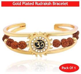 Gemlok Rudraksh Collection Gold Alloy Sun Bracelet