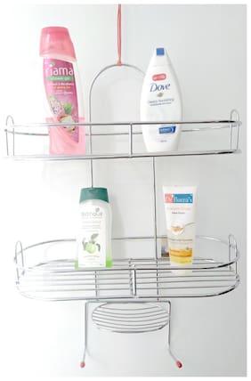 Generics Vaishvi Stainless Steel Wall Mounting Bathroom Holder And Storage Organizer