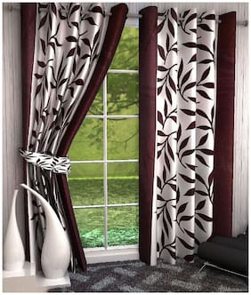 Geonature Eyelet Long Door Curtains Set of 2 (4X9 ft)