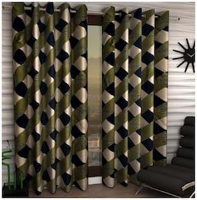 Geonature Eyelet Door Curtains Set of 2 (4X7 Feet)