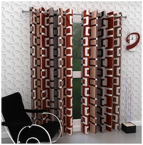 Geonature Eyelet Window Curtains Set of 2 (4X5 ft)