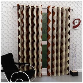 Geonature Long Door Eyelet curtains set of 2 (4x9 ft)