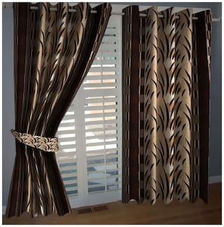 Geonature Window Eyelet curtains set of 2 (4x5Feet)