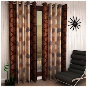 Geonature Window Eyelet curtains set of 2 (4x5 ft)