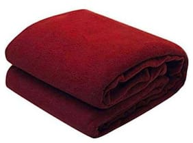 GETITBAE Polar-Fleece Thermal Soft Fabric Super Warm Bed Blanket-Double Bed Warm Sheet-Red