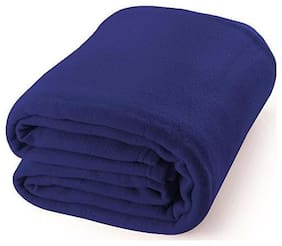 GETITBAE Polar-Fleece Thermal Soft Fabric Super Warm Bed Blanket-Double Bed Warm Sheet-Blue