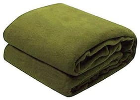 GETITBAE Polar-Fleece Thermal Soft Fabric Super Warm Bed Blanket-Double Bed Warm Sheet-Green