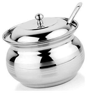 Ghee Pot- Stainless Steel, Tea & Sugar Pot Home Kitchen Serving Item