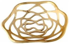 Giftadia Aluminium Metal Perforated Golden Fruits Basket Tray