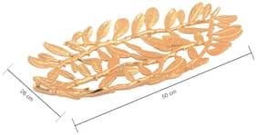 Giftadia Brass Oval Decorative Platter Gold - 1014061