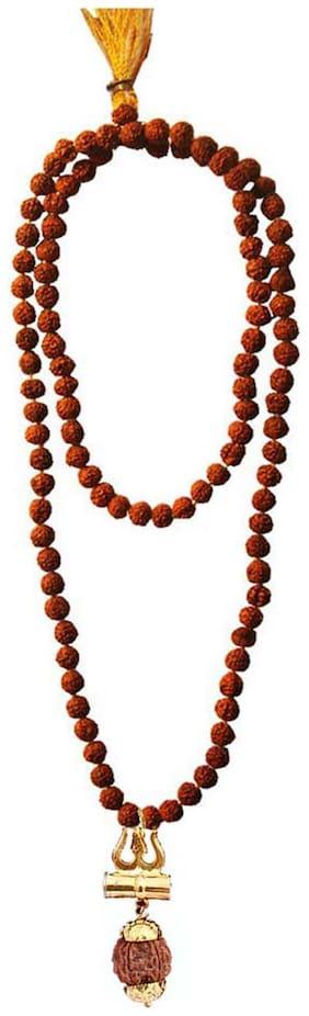 Gifts & Decor Beadworks Rudraksha Mala and Shiv Shakti kavach Set