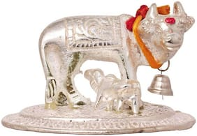 Gifts & Decor Kamdhenu Cow and Calf Murti For Home;Mandir;Office Decorative Showpiece