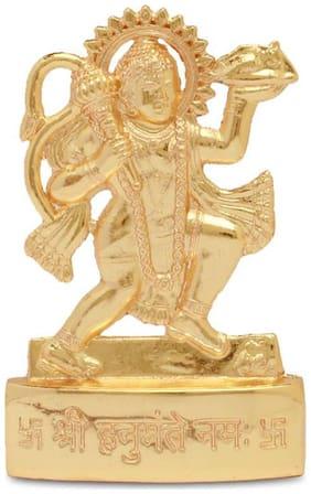 Maalgodam Gold Plated Idol;Statue of Lord Hanuman;Bajrangbali for Mandir;Temple;Car Dashboard