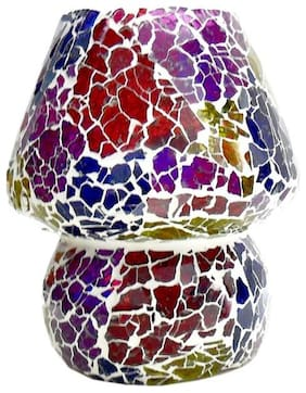 Gifts n Decor Multicolour Fusion Work Mosaic Style Dome shaped Glass Table Lamp with 40 W Incandescent Bulb For Corporate Gift and Home Decor