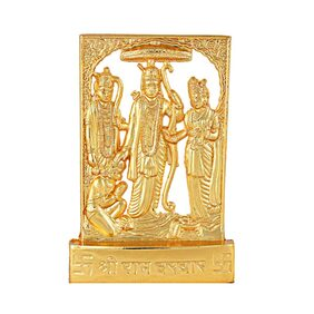 Gifts & Decor Gold Plated Decorative Shri Ram Darbar Statue