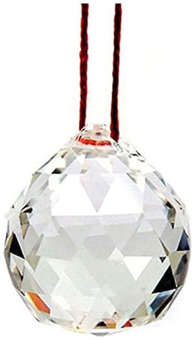 Maalgodam Hanging Crystal Ball Rainbow Prism Sun Catcher with Red Thread for Positive Energy;FengSui Car;Home and Office