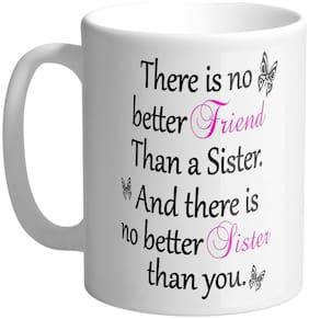 Giftszee Best Sister Gift Printed Ceramic Coffee Mug