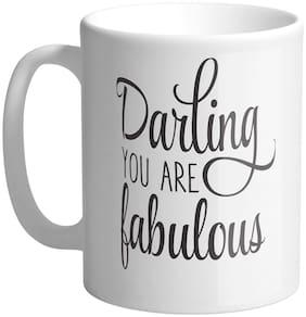 Giftszee Darling You Are Fabulous;Gift For Girlfriend;Boyfriend;Love Gift;Valentine Day Gift;Printed Ceramic Coffee Mug