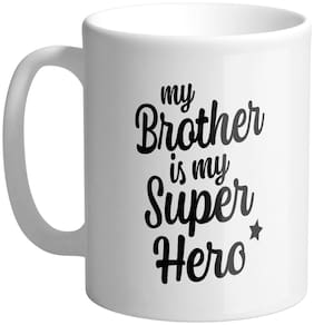 Giftszee My Brother Is My Super Hero Printed Ceramic Coffee Mug Gift For Brother