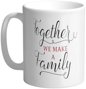 Giftszee Together We Make Family;Gift For Girlfriend;Boyfriend;Love Gift;Valentine Day Gift;Printed Ceramic Coffee Mug