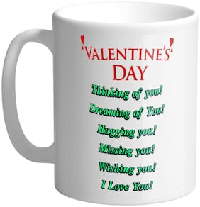 Giftszee Valentine Day Quote;Gift For Girlfriend;Boyfriend;Love Gift;Valentine Day Gift;Printed Ceramic Coffee Mug