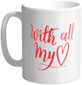 Giftszee With All My Love;Valentine Day Gift;Love Gift For Boy Friend;Girl Friend;Ceramic Coffee Mug (350 Ml)