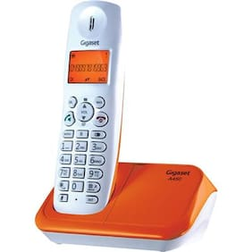 Gigaset A450 White And orange cordless landline phone