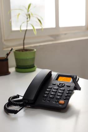 GIGASMART G202 Dual Sim Corded Landline Phone ( Black )