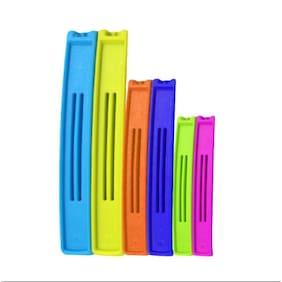Gisin Bag Plastic Cover Sealer Clip - 3 Different Sizes - (2 Pcs - 4 inch, 2 Pcs - 3 inch & 2 Pcs - 2.4 inch) - Total 6 Clips