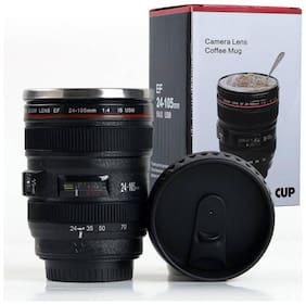 Gjshop Camera Mug Plastic Lens Emulation Water Milk Drink Bottle Tea Coffee Beer Cup With Lid Durable Black Bottles