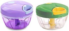 GJSHOP Plastic Vegetable tool Green & Purple ( Set of 2 )