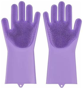 Gjshop JkG03 Free Size Scrubbing Gloves Wet and Dry Gloves Set