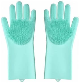 Gjshop JkG14 Free Size Scrubbing Gloves Wet and Dry Gloves Set