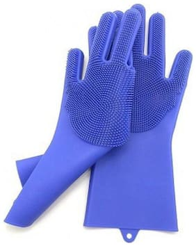 Gjshop JkG15 Free Size Scrubbing Gloves Wet and Dry Gloves Set