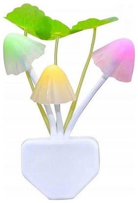 Gjshop Mushroom Light Lamp Automatic Sensor Light Changing Night Lamp