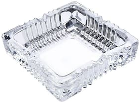 Gking Simple Style Square Glass Home Office Tabletop Ashtray