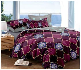 Gifty Cotton Geometric King Size Comforter Multi