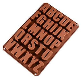 Glamaxy Big A-Z Alphabets Chocolate Fondant Clay Marzipan Cake Decoration Moulds (Set Of 1)