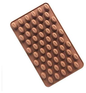 Glamaxy Coffee Bean Shaped Chocolate Silicone Mold For Making Jelly/Kitchen Tool Baking Accessory (Set Of 1)