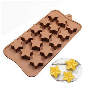 Glamaxy Star Shaped Chocolate Mold Silicon Mold//Diy Star Shaped Cake Decoration (Set Of 1)