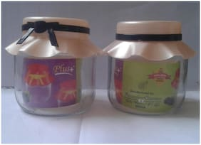 Glass Jar, Glass Container, Kitchen Container, plastic Cap Container, kitchen Jar, Container SET
