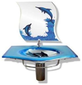Glass Wash basin Dolphin Design BY ARANAUT