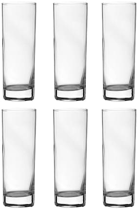 Incrizma Glass Water Tumbler;310 ml;Set of 6;Clear