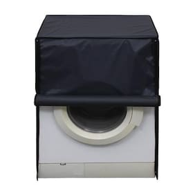 Glassiano Dark Gray Waterproof & Dustproof Washing Machine Cover For Front Load Panasonic NA-106MC1W6 Kg Washing Machine