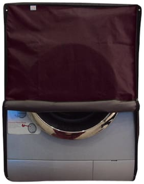 Glassiano dustproof and waterproof washing machine cover for front load 7KG_Samsung_WF602U0BHSD_Maroon