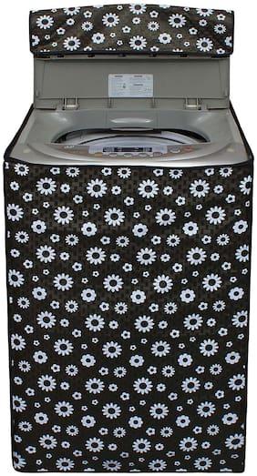 Glassiano Flower Printed Washing Machine Cover For Whirlpool 6.5 kg White Magic 651S Top loading Washing Machine