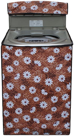 Glassiano Flower Printed Washing Machine Cover For IFB 9.5 kg TL-SDG Aqua Fully Automatic Top Loading Washing Machine