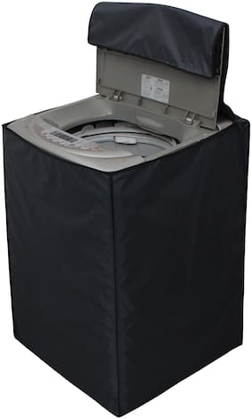 Glassiano grey colored Waterproof & Dustproof Washing Machine Cover For Lg Fully Automatic Top Load T7567TEELH 6.5Kg washing machine