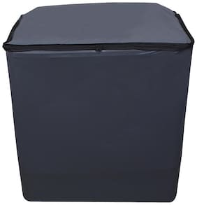 Glassiano Grey Waterproof & Dustproof washing Machine Cover For Semi Automatic Top Load 8kg - All Brand