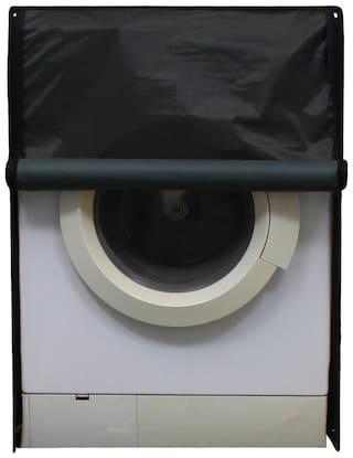 Glassiano Green Waterproof & Dustproof Washing Machine Cover For Front Load Haier HW60-1279 6 kg, Washing Machine
